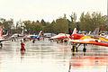 Aviones de diversas patrullas en la pista de la Base Aérea de Torrejón de Ardoz (15353037680).jpg