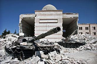 Azaz - Azaz, Syrian Civil War 2012.