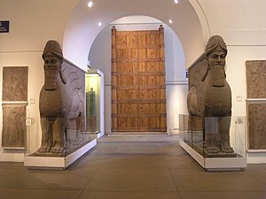 Destruction of Mosul Museum artifacts - Lamassu and Balawat Gate in the British Museum