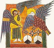 The fourth angel sounds his trumpet apocalypse 8 beatus escorial