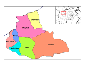 Badghis Province - Image: Badghis districts