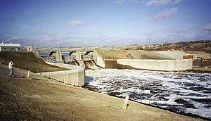 Sheyenne River - Baldhill Dam on the Sheyenne River during the spring 1996 floods