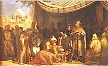 Baldwin III of Jerusalem receiving capitulation of Ascalon.jpg