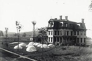 "Carl Edgar Myers - Frankfort ""balloon farm"" and mansion"