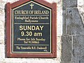 Ballymote Parish Church sign - geograph.org.uk - 1571753.jpg