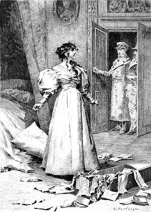 Gobseck - 1897 illustration from Gobseck (Mme de Restaud, Gobseck and Derville)  by Édouard Toudouze.