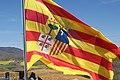 Bandera de Aragón ondeando (Navardún, Zaragoza).jpg