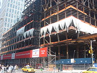 The Bank of America Tower under construction in June 2006