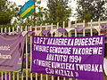 Banners Commemorating 18th Anniversary of Rwandan Genocide - Outside Catholic Church Memorial - Nyamata - Rwanda.jpg
