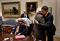 Barack Obama embraces Rep. Sandy Levin, D-Mich., 2010.jpg