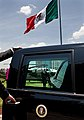Barack Obama heads to motorcade in Mexico City 4-16-09.JPG