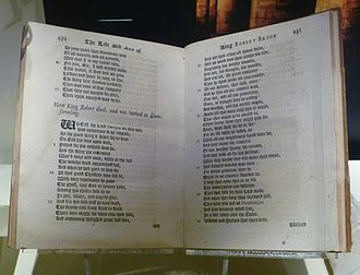 John Barbour (poet) - An 18thC edition of The Brus in the National Museum of Scotland