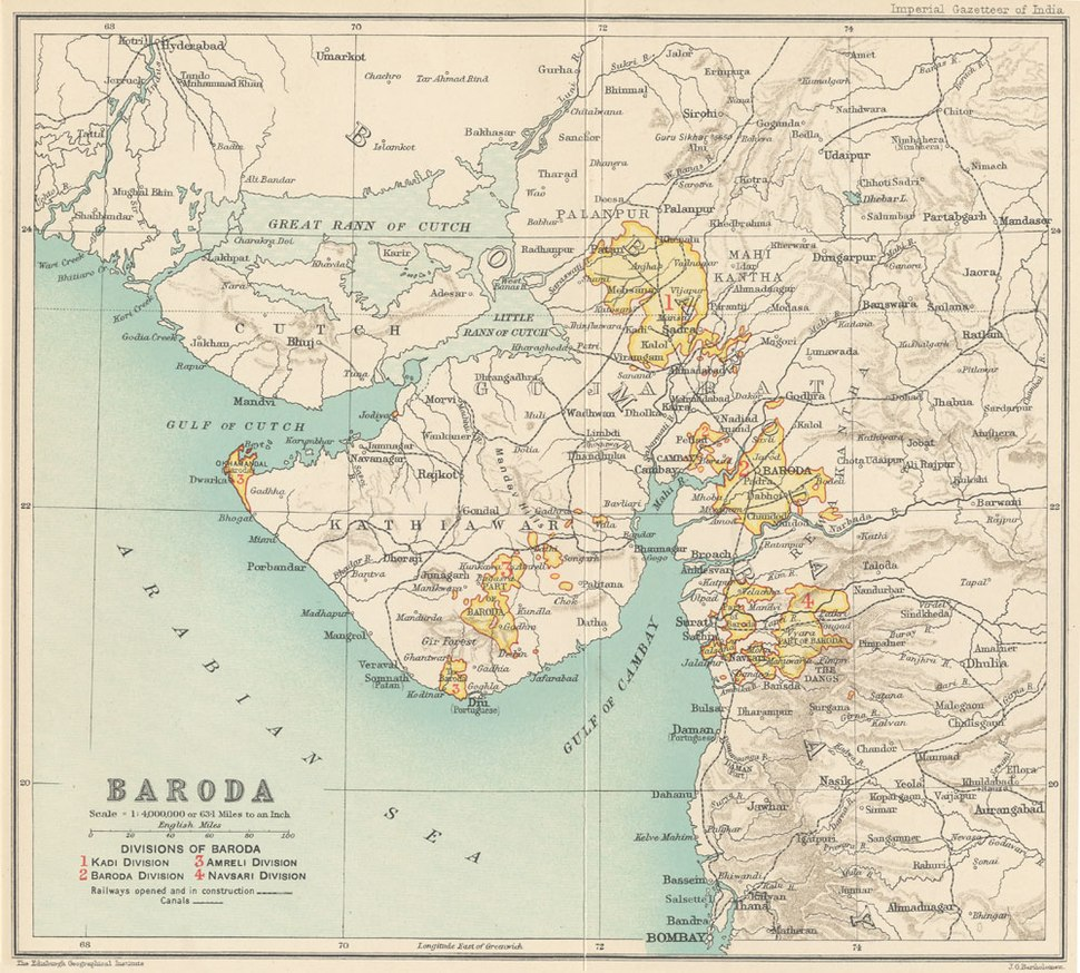 Baroda state 1909