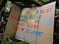 Barrier with protest-signs in the Hambach forest 05.jpg