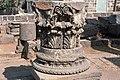Basilica Complex, Qanawat (قنوات), Syria - Capital set atop column base - PHBZ024 2016 1251 - Dumbarton Oaks.jpg