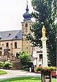 Basilika Marienweiher (Klosterkirche Mariä Heimsuchung und Mariensäule, 23.07.1995).jpg