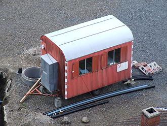 Construction trailer - One-axle construction trailer