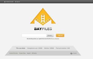 BayFiles - Image: Bay Files frontpage