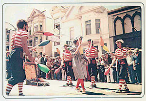 Castro Street Fair - Jugglers at the fair in 1975