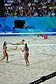 Beach volley at the Beijing Olympics - Brazil v. Australia (2).jpg