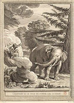 Beauvais-Oudry-La Fontaine-L'éléphant et le singe de Jupiter.jpg