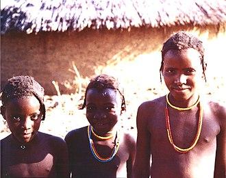 Ethnic groups in Senegal - Bedick girls in Iwol