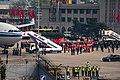 Beijing Medical Assistance Team disembarking from CA042 at PEK (20200331150334).jpg