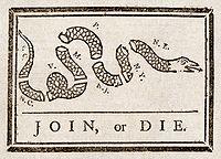 Dessin politique de Benjamin Franklin