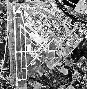 Bergstrom Air Force Base aerial photo