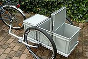 bike with specially made trailer for touring and offroad trekking