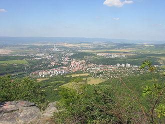 Teplice District - Image: Bilina from Boren Czech Republic