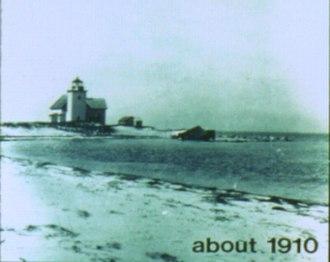 Billingsgate Island - Eroding shoreline of Billingsgate Island, about 1910