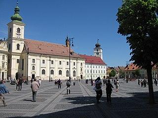 Jesuit Church, Sibiu heritage site in Sibiu County, Romania