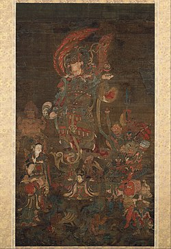 Bishamonten, the Guardian of the North, with his Retinue - Google Art Project.jpg