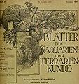 Blätter für Aquarien- und Terrarien-Kunde (1905) (20379659472).jpg