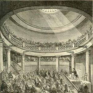 Owenism - Interior view of the Blackfriars Rotunda, where the N.U.W.C. met.