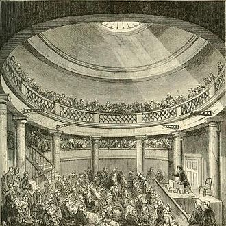 Owenism - Interior view of the Blackfriars Rotunda, where the N.U.W.C. met.
