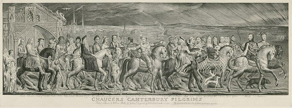 Blake Canterbury Pilgrims engraving