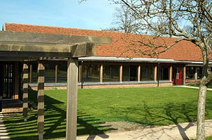Blakesley Hall - The visitor centre constructed in 2002.