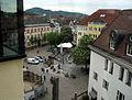 Blick vom Augustinermuseum auf den Augustinerplatz in Freiburg.jpg