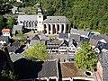 Blick von Burg Hengebach auf die Kirchen St. Salvator und St. Clemens - Bild 4.JPG