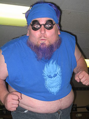 English: blue meanie in seasie.