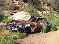 Blue broken down car. - panoramio.jpg