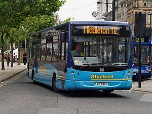 Plaxton Centro - Image: Bluebird Bus & Coach bus 82 (LL07 BLU), 25 July 2008