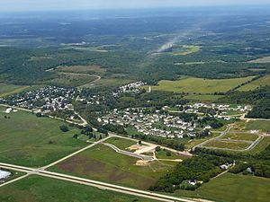 Blue Mounds, Wisconsin - Aerial view of Blue Mounds