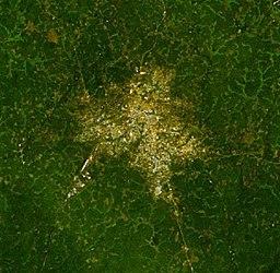 Satellitbillede over Bo.
