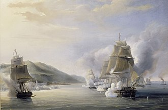 Guy-Victor Duperré - The attack of Admiral Duperré during the take-over of Algiers in 1830.