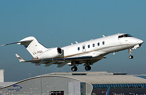 Challenger 300 shortly after takeoff