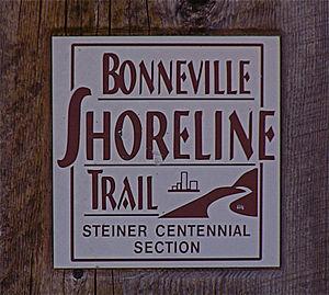 Bonneville Shoreline Trail - Bonneville Shoreline Trail marker.