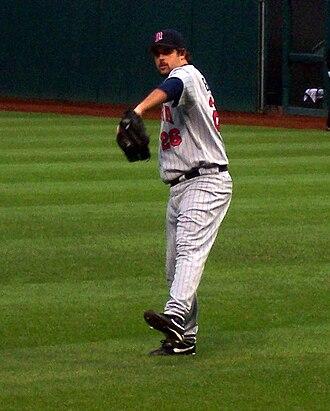 Boof Bonser - Bonser warming up in Cleveland, 2006